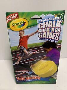 NEW Crayola Chalk Grab and Go Games - Foot Hockey