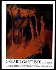 1988 Gerard Garouste painting NYC gallery vintage print ad