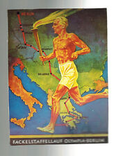 1936 Germany Austria Olympics Commemorative Postcard Cover Runner with Torch