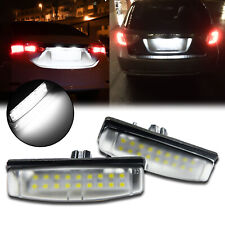 Direct Fit White Led License Plate Lamps Light For Lexus Is300 Is200 Gs300 Gs430