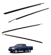 2004-2006 Tundra Door Molding Weatherstrip Belt(DOUBLE CAB)(4 PC) Genuine Toyota