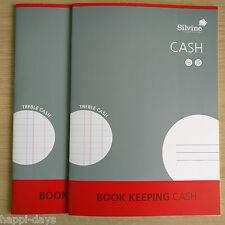 NEW - 2 x A4 BOOK KEEPING CASH BOOKS - Silvine Ledger Office Accounts - 2 BOOKS