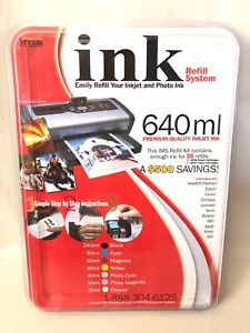 IMS Inkjet Refill System 640 ML Compatible HP Canon Epson Brother Apple Lexmark