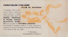 # ANCONA: OTTORINO MANCIOLI - MOSTRA PITTURA ISPIRATA ALLO SPORT- cartoncino