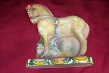 Old 1930s Chalkware Horse Carnival Fair Prize Small Little Chalk Vintage Animal