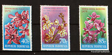 STAMPS NEW INDONESIA Scott 944/6 FLOWERS 98m244