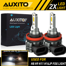 2X AUXITO H8 H11 H9 Fog Light 6000K White Super Bright LED Driving Bulb L3 EOA