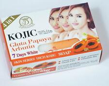 6 Pcs.*160G. Kojic White Gluta Papaya Arbutin 7 Days Soap Ship DHL Express 5days