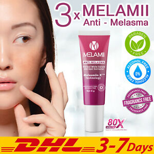 3x Melamii Anti Melasma Blemishes Freckles Dark Spot Whitening SPF 20 Serum 8 g