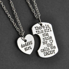DADDY'S GIRL 2 PIECE NECKLACE SET FATHER DAUGHTER GIFT CHARM PENDANT SET #KC18