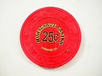 Vintage Horseshoe Casino obsolete Chip Gardena CA. 25c Red great condition