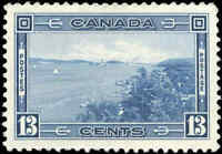 1938 Mint Canada VF Scott #242 13c Pictorial Issue Stamp Hinged