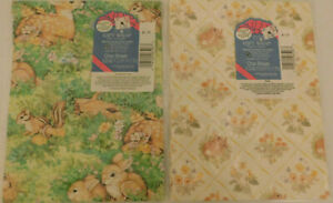 2 NIP VINTAGE EASTER  WRAPPING PAPER    FREE SHIPPING IN THE USA