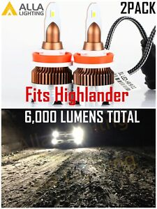 Alla LED H8 Cornering|Daytime Running|Fog Light Bulb All-in-One upgrade  Kit