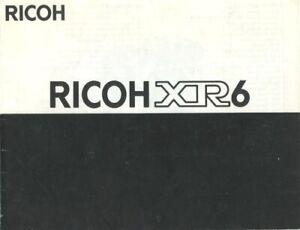 Ricoh XR6 Instruction Manual Original