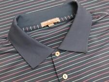 Peter Millar Summer Comfort Navy Pink Striped Blank Golf Polo Shirt XXL 2XL