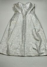 NWT LORD AND TAYLOR Womens Size 6 Silver White Dress Cocktail Evening Strapless