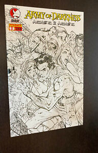 ARMY OF DARKNESS Ashes 2 Ashes #1 (Dynamite) --- J Scott CAMPBELL Sketch Variant