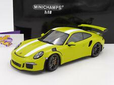 """Minichamps 155066224 # Porsche 911 (991) GT3 RS Bj. 2015 """" lichtgrün-weiß """" 1:18"""