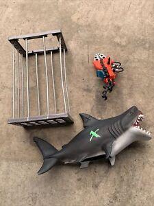 Action Man Deep Sea Mission Ocean Sting Ray Shark Figure Bundle 2000s