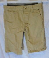 Boys Primark Beige Chino Denim Adjustable Waist Smart Shorts Age 4-5 Years
