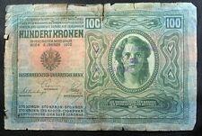 100 kronen 1912 - Austria Hungary - Serbia - War stamp Gornji Milanovac