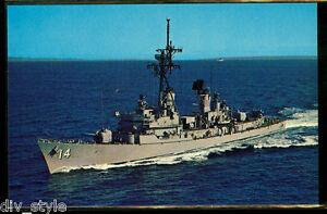 USS Buchanan DDG-14 postcard  US Navy warship guided missile destroyer
