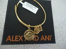 Alex and Ani TEAM USA SWIMMING Rafaelian Gold Bangle New W /Tag Card & Box
