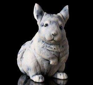 Marble chinchilla sculpture, Russian stone art realistic animal figurine