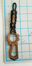 """1/4"""" Thick EDC Pry Bar Bottle Opener Multi Tool Pocket Clip Made in USA"""