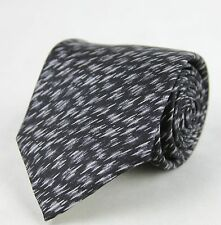New Authentic Bottega Veneta Black and White Dry Brush Pattern Tie 325511 1061
