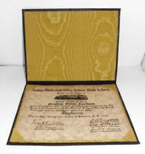 Vintage Diploma 1932 James Whitcomb Riley Senior High School South Bend Indiana