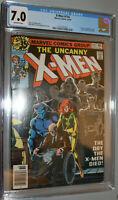 Uncanny x-men # 114  CGC 7.0 Marvel Comic 1978 off-white pages