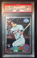 2011 Topps Update Mike Trout Rookie Diamond Anniversary PSA 10 Gem Mint RC US175