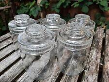 More details for 1970s 6x glass storage jars with lid vintage nescafe coffee retro bundle