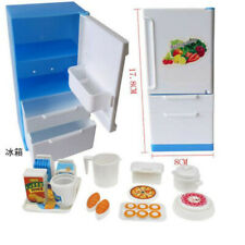 Refrigerator Play Doll Fridge Freezer With Food Lots Of Pieces & Box For Doll