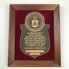 Vintage Pacific Southwest Airlines Civil Air Patrol Award Plaque Brass CAP 1979