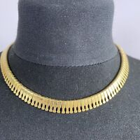 VINTAGE Cleopatra Collar Necklace Gold Tone 70s Disco Studio 54 Articulated