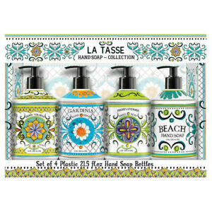 Home and Body La Tasse Hand Soap Collection 4 Bottles x 21.5 fl oz Coconut Beach