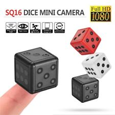 1080P HD Dice Mini Hidden Camera Portable Spy Hide Keychain Cam Security SQ16