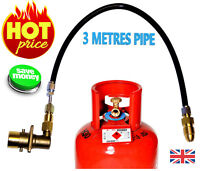UK Bayonet LPG Filling Point to Gas cylinder Propane Bottle 3 Meters FLEXI pipe