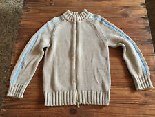 Used - Sweater MAX&Co. Jersey - 100% Cotton - Size M Beig and Blue color - Usado