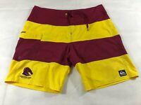 Brisbane Broncos NRL Quiksilver Board Shorts Boardies - Size W38 - Free Post