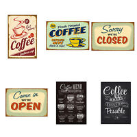 HD_ FT- Vintage Metal Tin Coffee Sign Plaque Poster Bar Wall Pub Home Club Kitch
