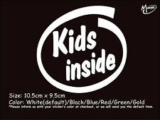 *KIDS INSIDE Reflective Funny Warning Car Truck  Stickers Decasl-