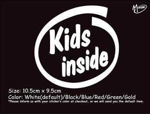 KIDS INSIDE Reflective Funny Warning Car Truck  Sticker Window Decal-