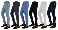 MENS BOY'S DENIM SUPER STRETCH SKINNY SLIM FIT JEANS ALL WAIST AND LEG SIZES