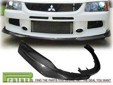 06-07 Mitsubishi Lancer EVO 9 IX Carbon Fiber CF ART Style Front Bumper Lip
