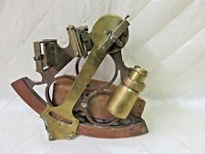 Heath Hezzanith Rapid Reader Sextant Brass Antique Nautical Marine England