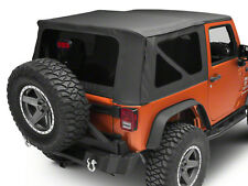 2010-2018 Wrangler JK 2 door Smittybilt 9075235 Soft Top w/ Tinted Windows Black